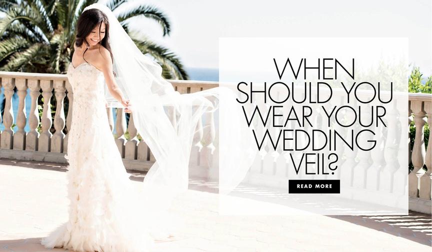 When should you wear your wedding veil