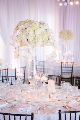 tall glass vases, floating candle holders, candle centerpieces white wedding decoration ideas