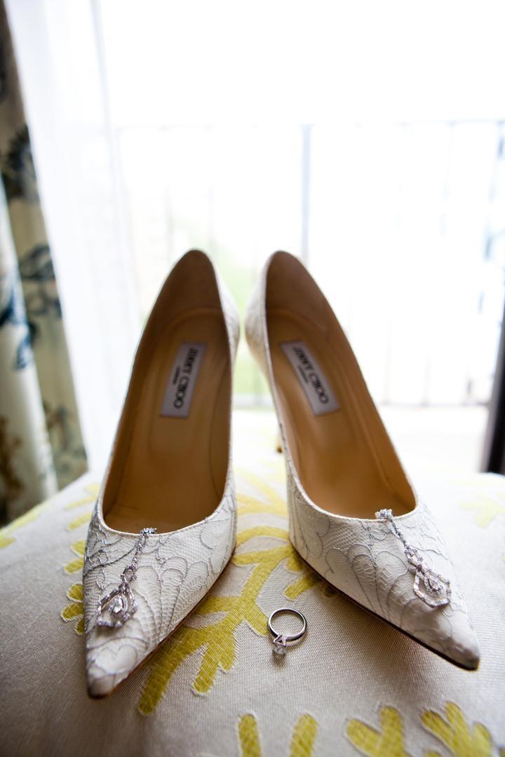60570c36946 Shoes & Bags Photos - Lace Wedding Pumps - Inside Weddings