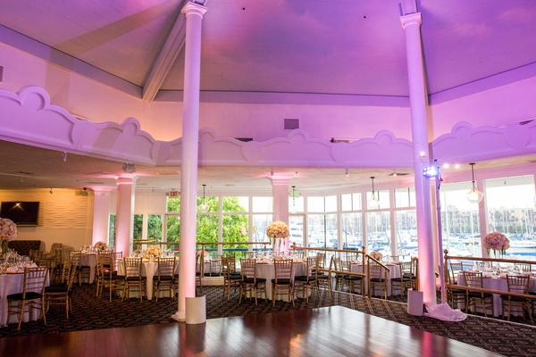 fantasea yacht club wedding reception purple uplighting
