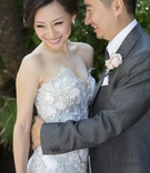 Asian American wedding couple in California