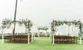 Montage Kapalua Bay Namalu Lawn wedding ceremony bay hawaii destination wedding outdoor ceremony