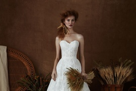 Isabelle Armstrong Spring 2018 bridal collection Emma lace sweetheart ball gown wedding dress