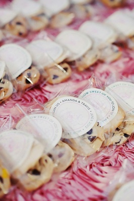 Wedding favor Cincinnati cookie with personalized sticker