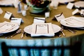 Tablescape with classic seating and menu cards
