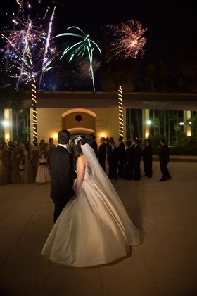 Florida wedding with surprise firework show