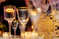 Wedding reception floating candles candle votive gold table number wedding reception