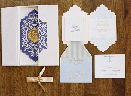French pastel wedding invitation suite by Heidi Jimenez of Zenadia Design