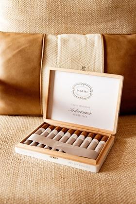 Casa Fernandez Miami Reserva - Cigars International box of cigars at groom's suite