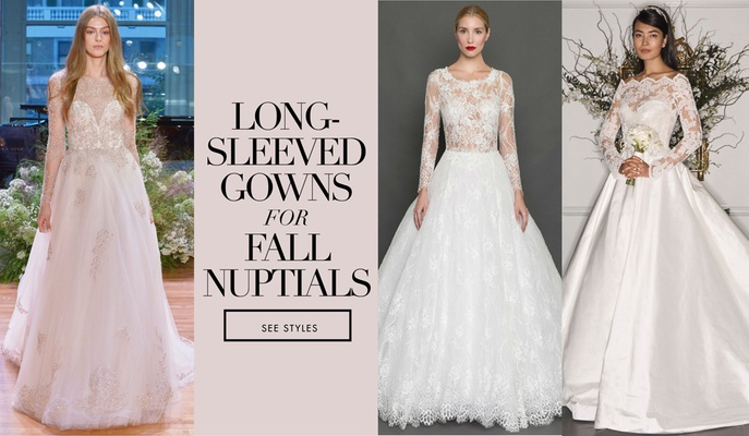 Bridal Gowns Long Sleeve Wedding Dresses For Brides