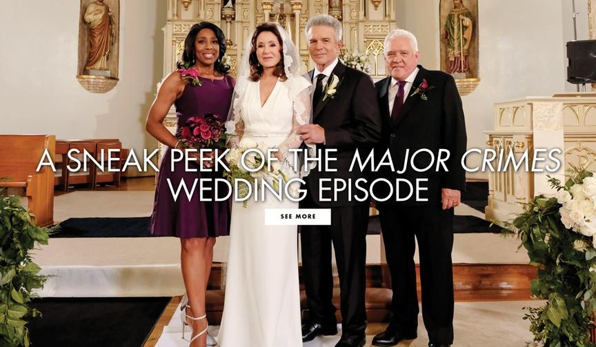 Major Crimes wedding episode Captain Sharon Raydor and Lieutenant Andy Flynn traditional wedding