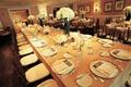 Indoor wedding reception with simple design