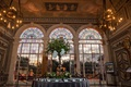 vizcaya museum and gardens wedding, escort card table, tall dramatic windows