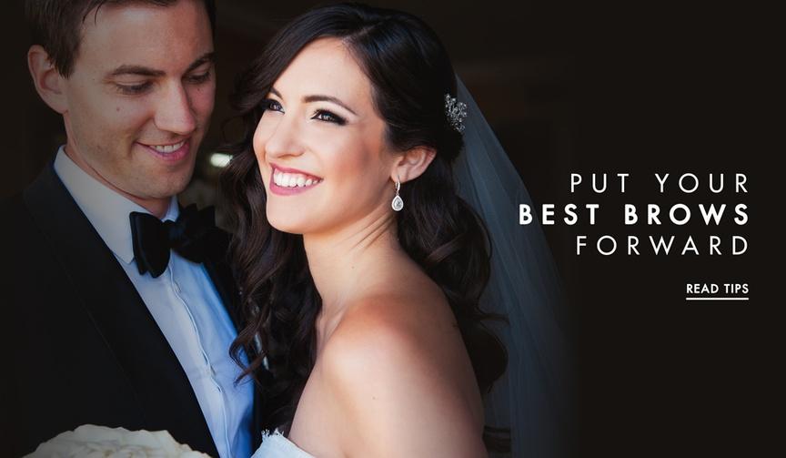 Eyebrow advice for brides wedding day beauty