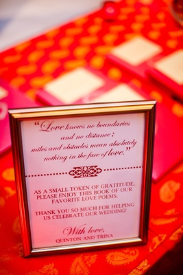 Silver frame displaying love quote and explanation