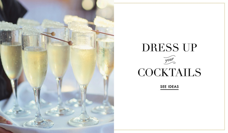 Wedding drink and signature cocktail embellishment ideas