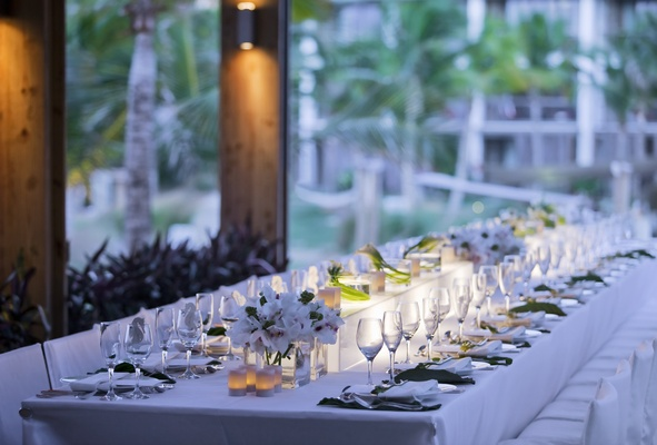 Candlelit reception at W Retreat & Spa, Vieques Island.