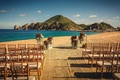 simple ceremony décor for outdoor ceremony on a beach in cabo san lucas mexico