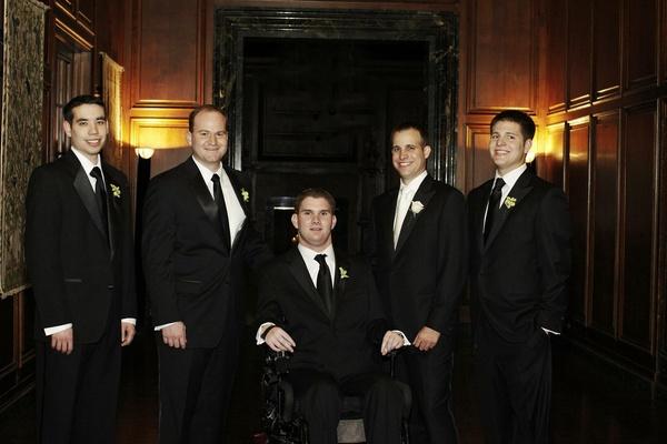 Formal Chicago groomsmen with groom