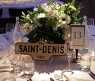 Toronto street sign as name of wedding reception table
