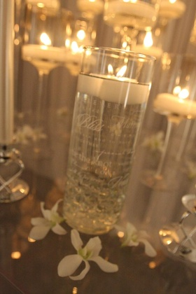 Clear vases with inspiring words