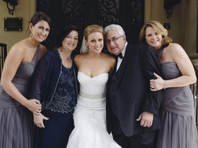 Angela Mecca with mother-of-the-bride and father