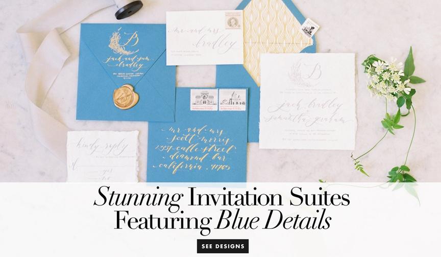 Wedding invitation ideas in something blue hue