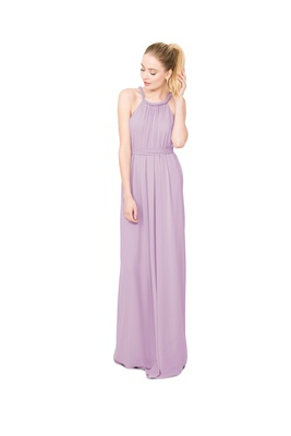 Joanna August Catherine long bridesmaid dress in light purple with twist rope straps