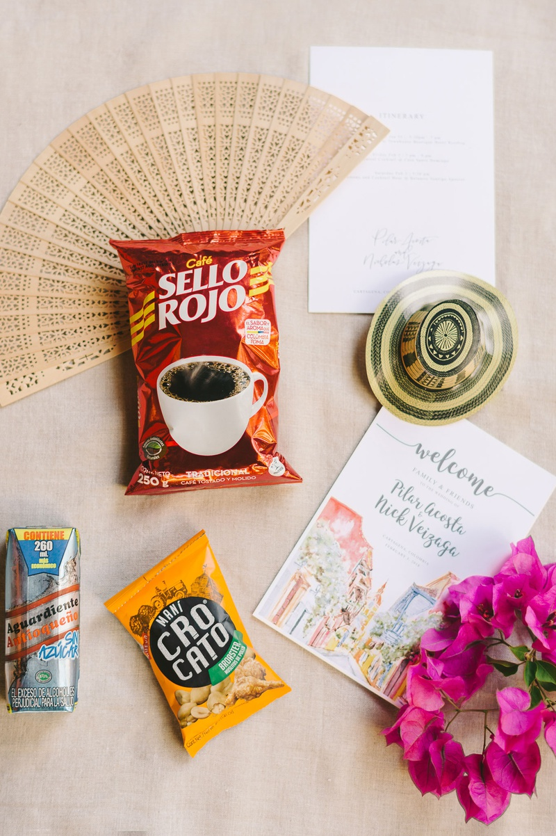 wedding favors destination wedding colombia coffee welcome post