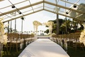 wedding ceremony the mar a lago club view of palm trees white flowers gold chairs