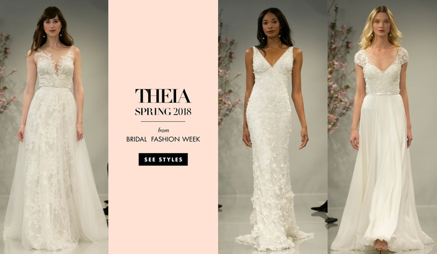 See the figure-flattering dresses that show a bride's personality.