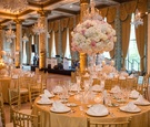 classic wedding at the drake hotel gold coast room, blush and ivory flower arrangements