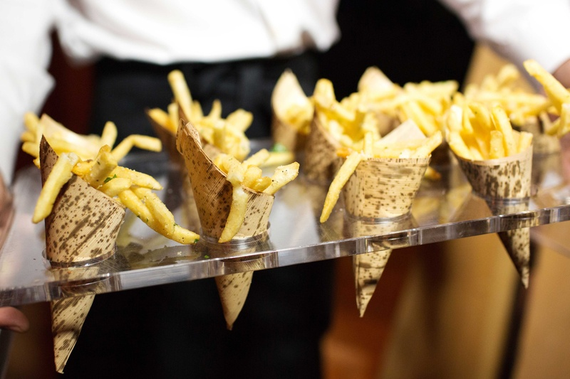 French fry snacks in cones as late night snack for wedding reception