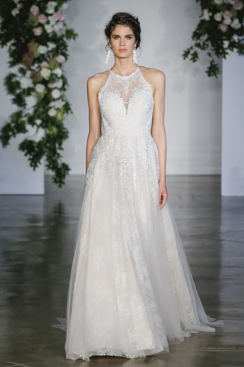 Wedding dresses photos kayleigh by morilee inside weddings morliee fall 2018 guipure lace appliqus on english net ball gown over chantilly lace ombrellifo Choice Image