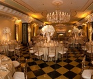 The US Grant black and gold ballroom decor