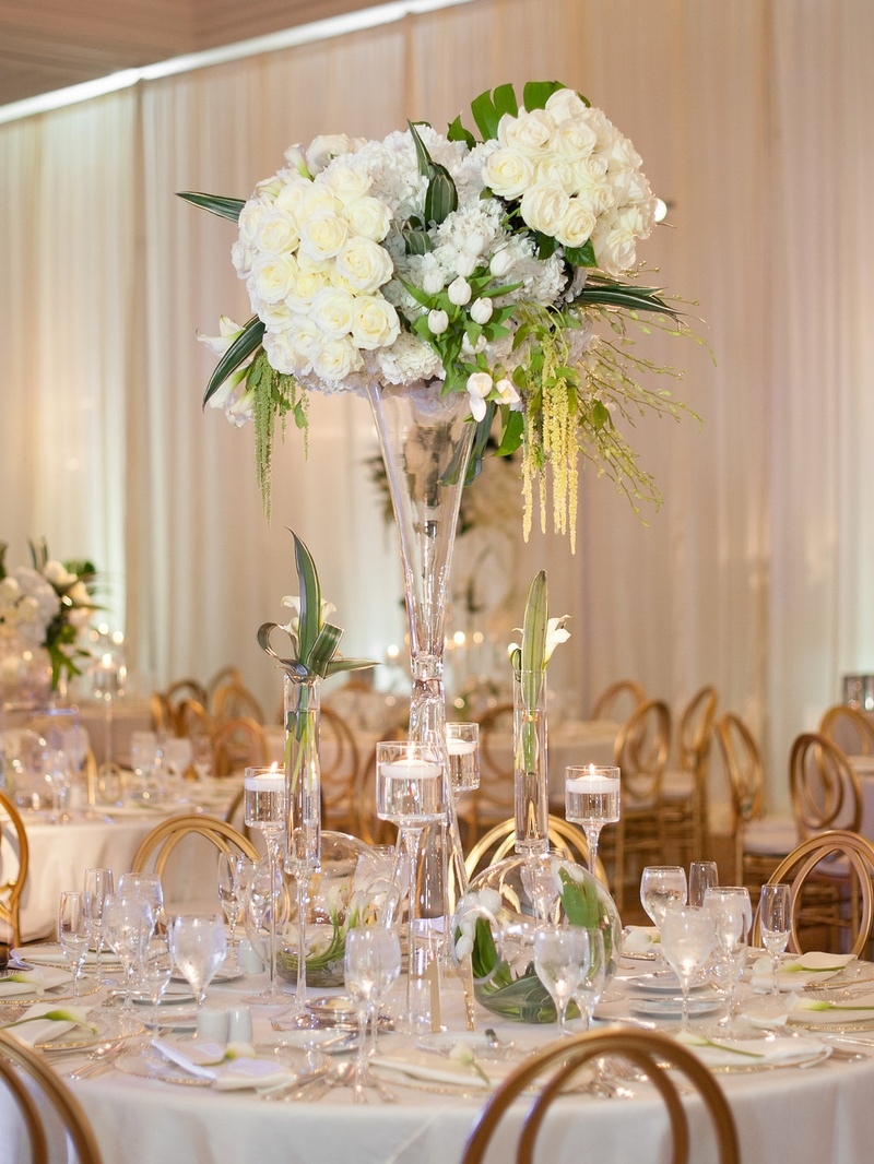 Reception Dcor Photos Towering White Flower Arrangement Inside