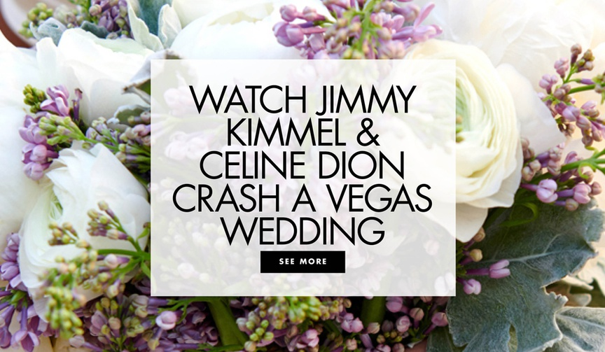 watch jimmy kimmel, david spade, and celine dion crash a las vegas wedding