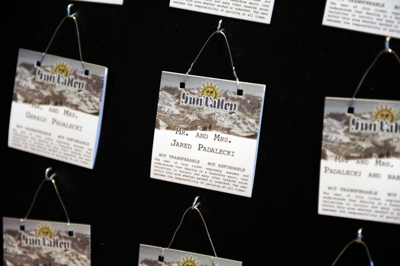 Sun Valley Ski Snowboard Lift Tickets As Escort Cards