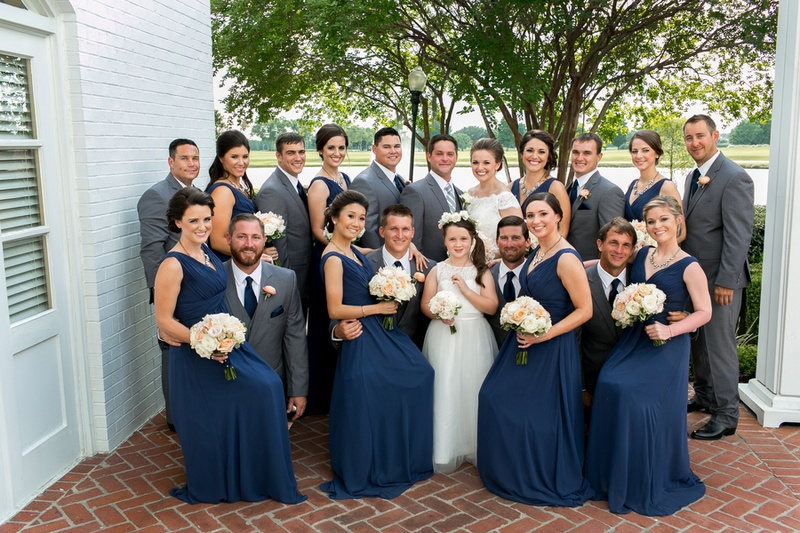 Brides & Bridesmaids Photos - Bride & Groom with Bridal Party on ...