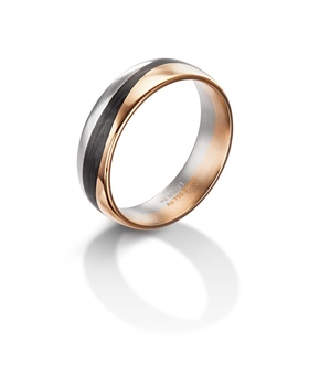 Furrer Jacot 71-29270 palladium, rose gold and carbon fiber two tone band