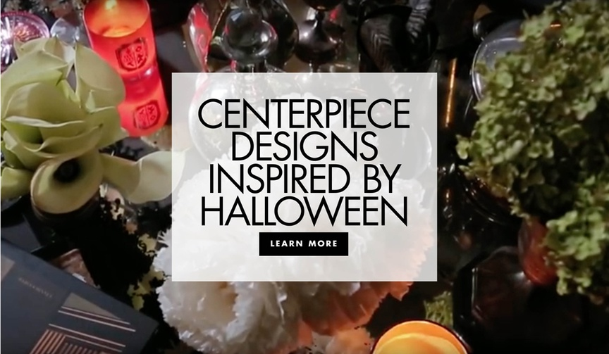 Discover how to create four Halloween-inspired floral arrangements for a themed wedding or party!