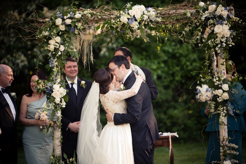 laura breckenridge and husband share first kiss