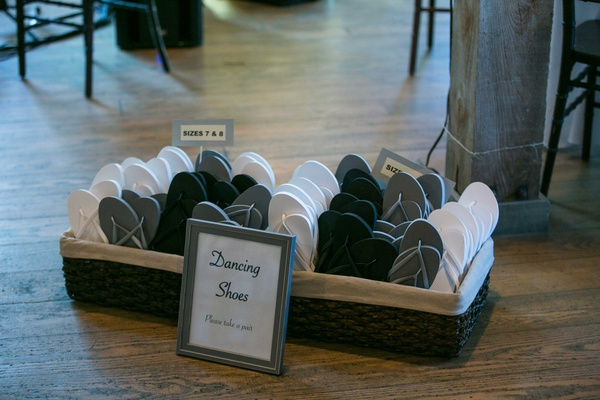 501cac76381397 ... before wedding  dancing flip flops white gray grey black extra shoes  reception guests ...