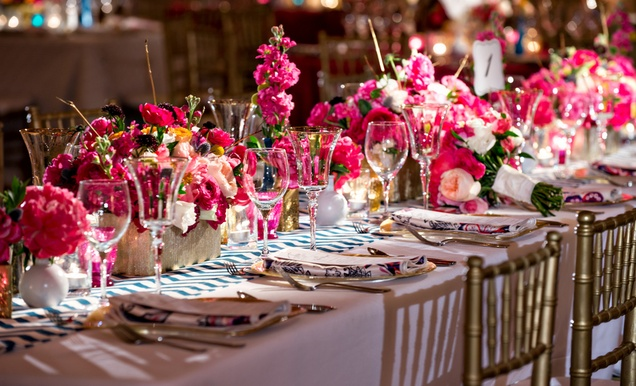 La film producers wed in a vibrant pink gold and chevron wedding la film producers wed in a vibrant pink gold and chevron wedding inside weddings mightylinksfo