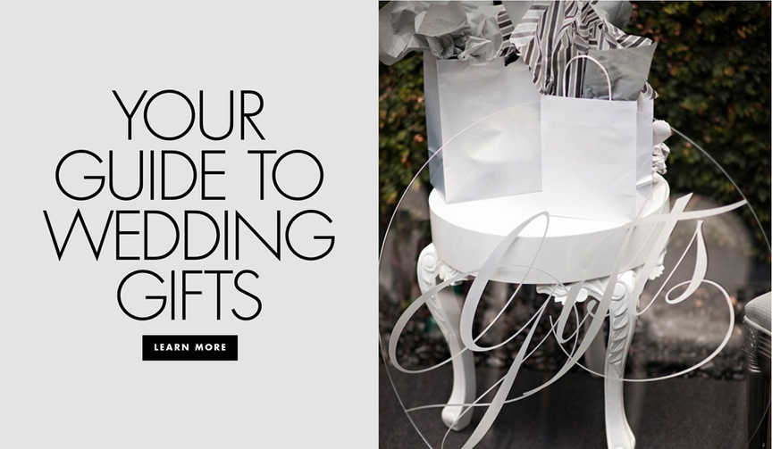 Your guide to wedding gifts the etiquette of giving presents for the wedding