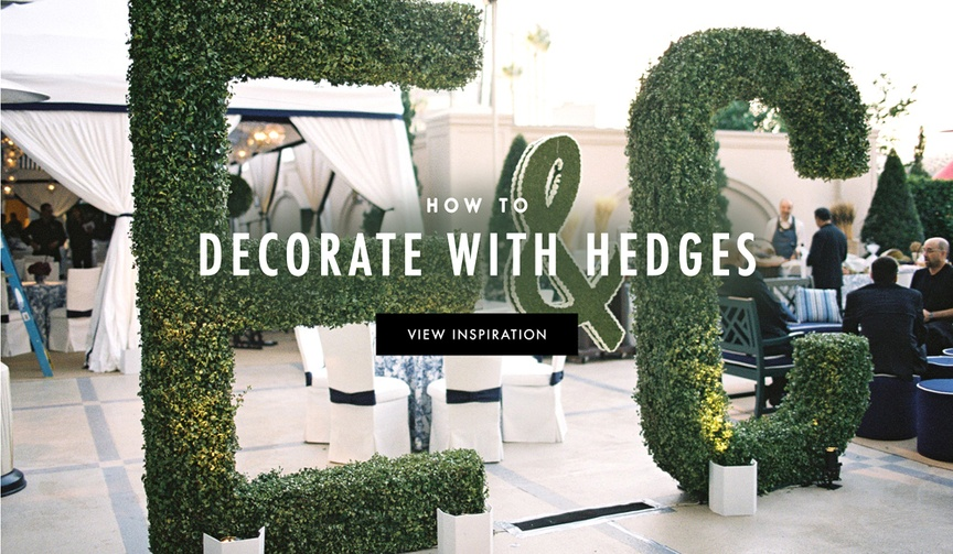 How to use greenery and hedges in your wedding decorations