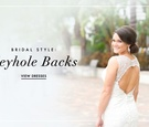 Bridal gown wedding dress ideas with keyhole backs