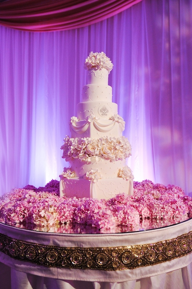 Hydrangea Wedding Cake Decorations
