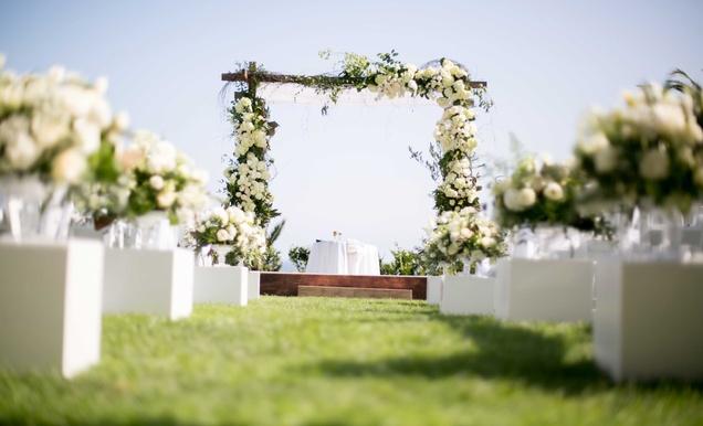 Classic California Wedding With Outdoor Ceremony & Indoor