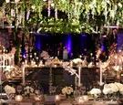 wedding reception decor gold coast events the gold coast all stars greenery blue delphinium greenery